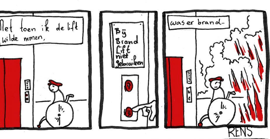 Net toen ik de lift wilde nemen…